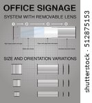 office signs system with... | Shutterstock .eps vector #512875153