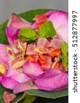 Small photo of Thai ahi tuna salad served in a beautiful lotus flower
