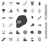hockey helmet icon  vector... | Shutterstock .eps vector #512886103