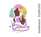 logo for the beauty salon.... | Shutterstock .eps vector #512891353