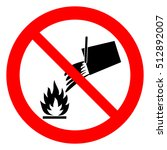do not extinguish with water ... | Shutterstock .eps vector #512892007