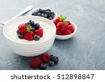 healthy greek yogurt bowl with... | Shutterstock . vector #512898847