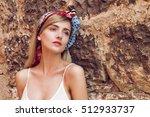 close up of beautiful woman... | Shutterstock . vector #512933737