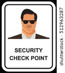 vector design of security guard ... | Shutterstock .eps vector #512963287