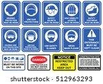 blue mandatory set of safety...   Shutterstock .eps vector #512963293
