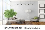 modern bright interior . 3d... | Shutterstock . vector #512966617