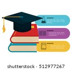 infographic education flat icons | Shutterstock .eps vector #512977267
