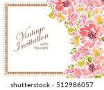vintage delicate invitation...   Shutterstock .eps vector #512986057