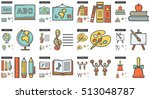 education vector line icon set... | Shutterstock .eps vector #513048787