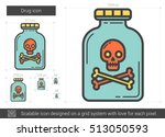 drug vector line icon isolated... | Shutterstock .eps vector #513050593