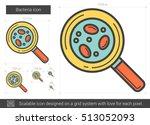 bacteria vector line icon...