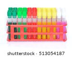 set of chemical test tubes of... | Shutterstock . vector #513054187