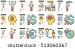 business vector line icon set... | Shutterstock .eps vector #513060367