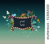 beautiful frame alice in... | Shutterstock .eps vector #513063103