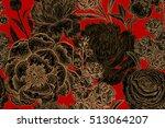 flowers peonies  roses ... | Shutterstock .eps vector #513064207