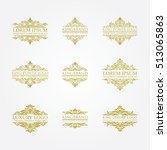 luxury logo set | Shutterstock .eps vector #513065863