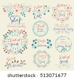 baked goods.sweet cupcakes... | Shutterstock .eps vector #513071677