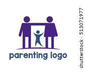parenting logo  family logo | Shutterstock .eps vector #513071977
