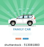 suv car isolated on rays... | Shutterstock .eps vector #513081883
