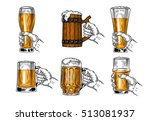 set of vector icons beer glasses | Shutterstock .eps vector #513081937