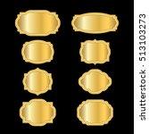 gold frames. beautiful simple... | Shutterstock .eps vector #513103273