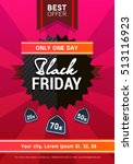 vector black friday sale poster | Shutterstock .eps vector #513116923