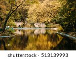 autumn fall colors   reflection ... | Shutterstock . vector #513139993