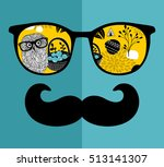 abstract face of man in glasses....
