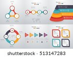 set with infographics. data and ... | Shutterstock .eps vector #513147283