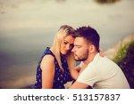 couple in love outdoors. gentle ... | Shutterstock . vector #513157837
