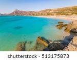 pieces of heaven in crete... | Shutterstock . vector #513175873