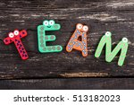word team formed with letters ... | Shutterstock . vector #513182023