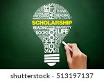 scholarship bulb word cloud... | Shutterstock . vector #513197137