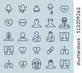 medicine minimal line icon set | Shutterstock .eps vector #513209263