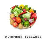 still life of fresh vegetables... | Shutterstock . vector #513212533