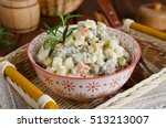 russian traditional salad... | Shutterstock . vector #513213007