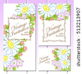invitation with floral... | Shutterstock .eps vector #513213907