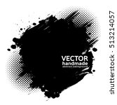 abstract grunge black brush... | Shutterstock .eps vector #513214057