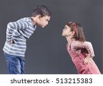 Small photo of Brother and sister having an argument