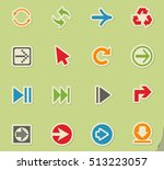 arrow web icons on color paper... | Shutterstock .eps vector #513223057