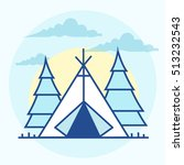 camping area | Shutterstock .eps vector #513232543