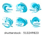 Water Waves Splash. Vector...