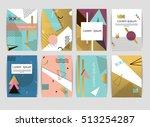memphis cards pattern of... | Shutterstock .eps vector #513254287