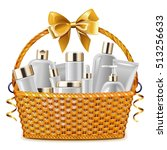 Vector Gift Basket With...