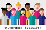 Vector Illustration Of Group O...
