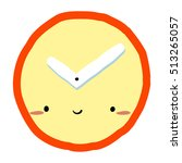 cartoon clock icon. the vector...