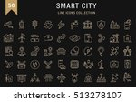 set  line icons with open path... | Shutterstock . vector #513278107