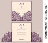 wedding cutout invitation... | Shutterstock .eps vector #513287407