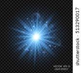 vector blue light effect.... | Shutterstock .eps vector #513290017