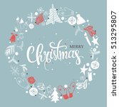 christmas illustration ... | Shutterstock .eps vector #513295807